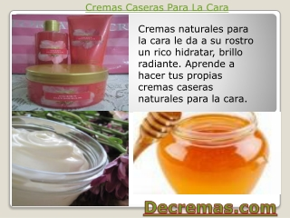 Cremas Caseras Para La Cara - Cremas Naturales