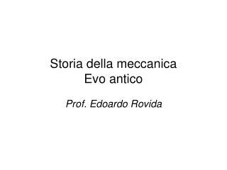 Storia della meccanica Evo antico