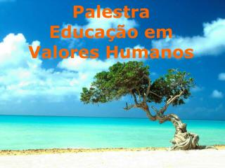 Palestra - Projeto Valores Humanos