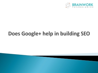Does Google  help in building SEO