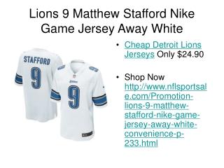 nflsportsale.com - Lions 9 Matthew Stafford Nike Game Jersey