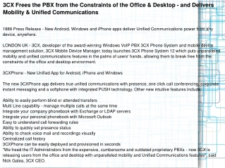 3CX Frees the PBX from the Constraints of the Office