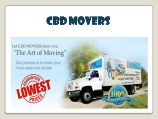 Why Choose CBD Movers?