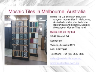 Porcelain Marble Tiles in Melbourne, Australia