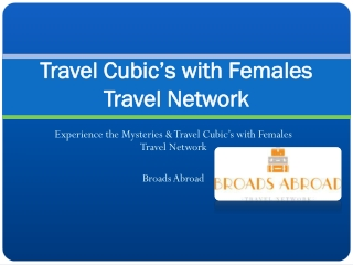 Broads Abroad - Official Site for Women Travelers
