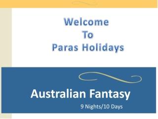 Australia Honeymoon Packages 2013