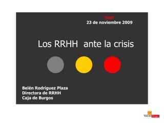 Los RRHH  ante la crisis