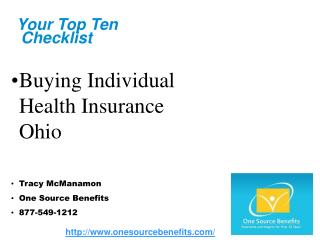 buying individual health insurance ohio
