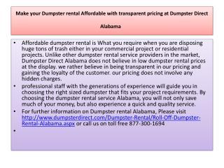 make your dumpster rental affordable with transparent pricin