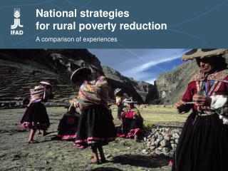 National strategies  for rural poverty reduction  A comparison of experiences