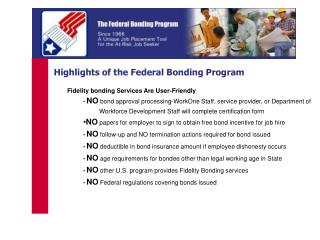Highlights of the Federal Bonding Program