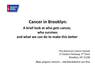 Cancer in Brooklyn: