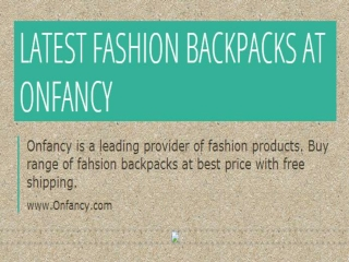 Fashion Backpacks | Denim Backpacks