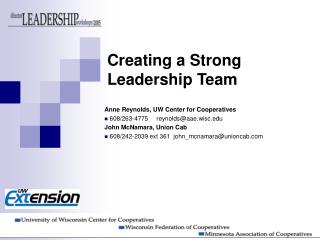 Creating a Strong Leadership Team