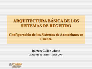 ARQUITECTURA B SICA DE LOS SISTEMAS DE REGISTRO  Configuraci n de los Sistemas de Anotaciones en Cuenta
