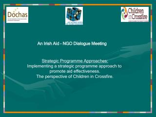 Strategic Programme Approaches: Implementing a strategic programme approach to  promote aid effectiveness. The perspecti