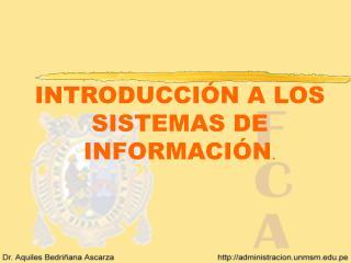 INTRODUCCI N A LOS SISTEMAS DE INFORMACI N.