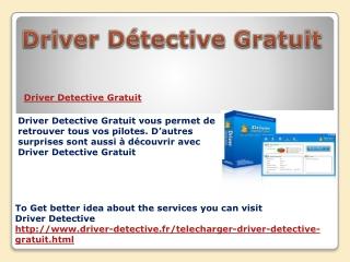 Driver D�tective Gratuit