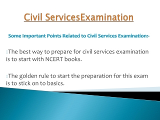 Prepare for civil services examination at home