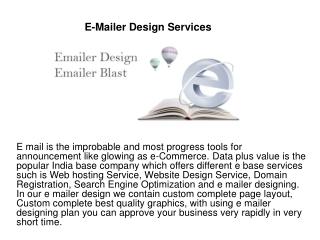 E-Mailer Design Services