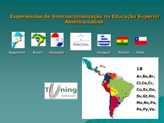 Experi ncias de Internacionaliza  o na Educa  o Superior                                    Am rica Latina