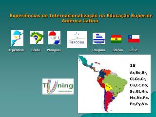 Experi ncias de Internacionaliza  o na Educa  o Superior                                    Am rica Latina