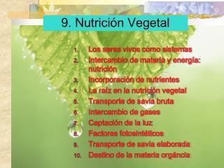 9. Nutrici n Vegetal