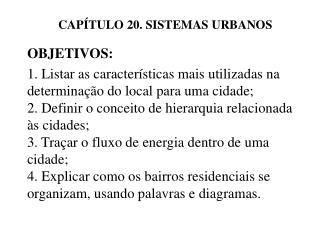 CAP TULO 20. SISTEMAS URBANOS