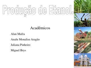 Produ  o de Etanol.