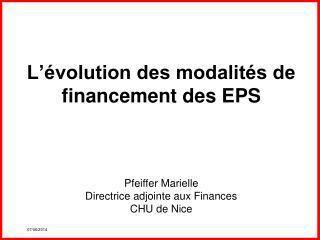 L  volution des modalit s de financement des EPS