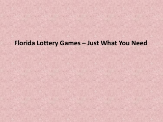 Florida State Lottery