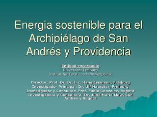 Energia sostenible para el Archipi lago de San Andr s y Providencia
