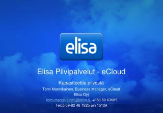 Elisa Pilvipalvelut - eCloud