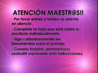 ATENCI N MAESTRS