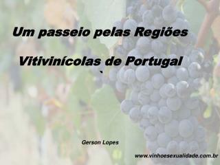 Um passeio pelas Regi es   Vitivin colas de Portugal          Gerson Lopes                        vinhoesexualidade.br