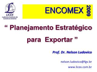 Planejamento Estrat gico              para  Exportar