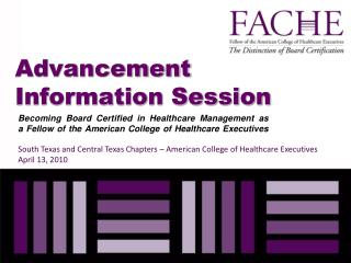 Advancement Information Session