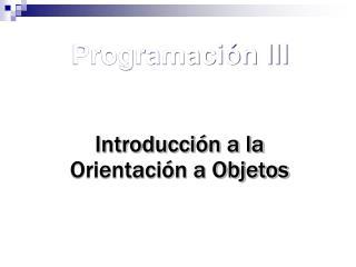 Programaci n III