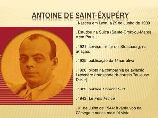 Antoine de saint- xup ry
