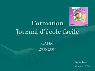Formation Journal d  cole facile