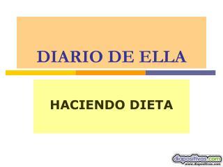 DIARIO DE ELLA