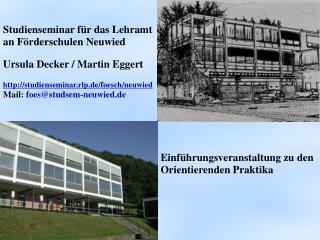 Studienseminar f r das Lehramt an F rderschulen Neuwied  Ursula Decker