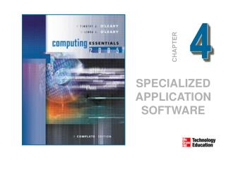 SPECIALIZED APPLICATION SOFTWARE