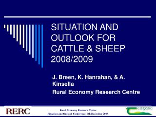 SITUATION AND OUTLOOK FOR CATTLE  SHEEP  2008