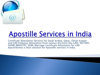 Apostille Services in India