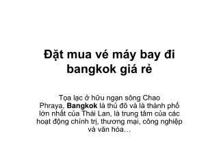 Đặt mua vé máy bay đi bangkok giá rẻ