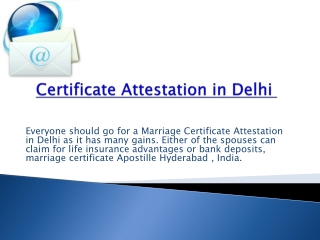 Certificate Attestation In India