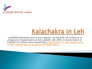 Kalachakra in leh ladakh