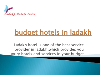 budget hotels in ladakh