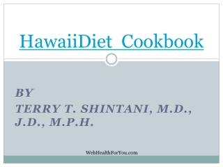 Hawaii Diet Cookbook Spiral 22
